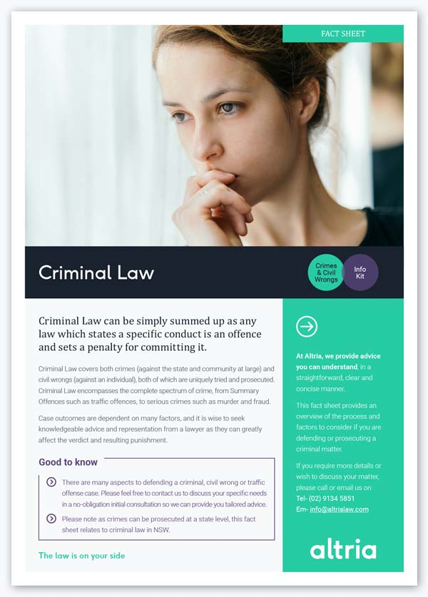 Our criminal law information for drink driving, DUI, drugs, assault and AVOs